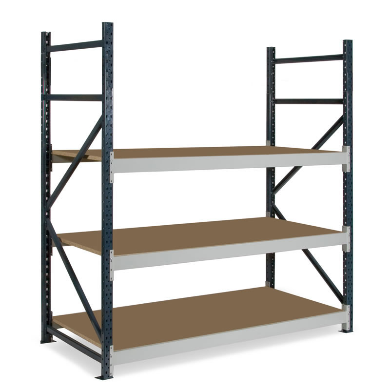 Dexion Longspan Shelving, 600mm Deep, 3 Chipboard Shelves