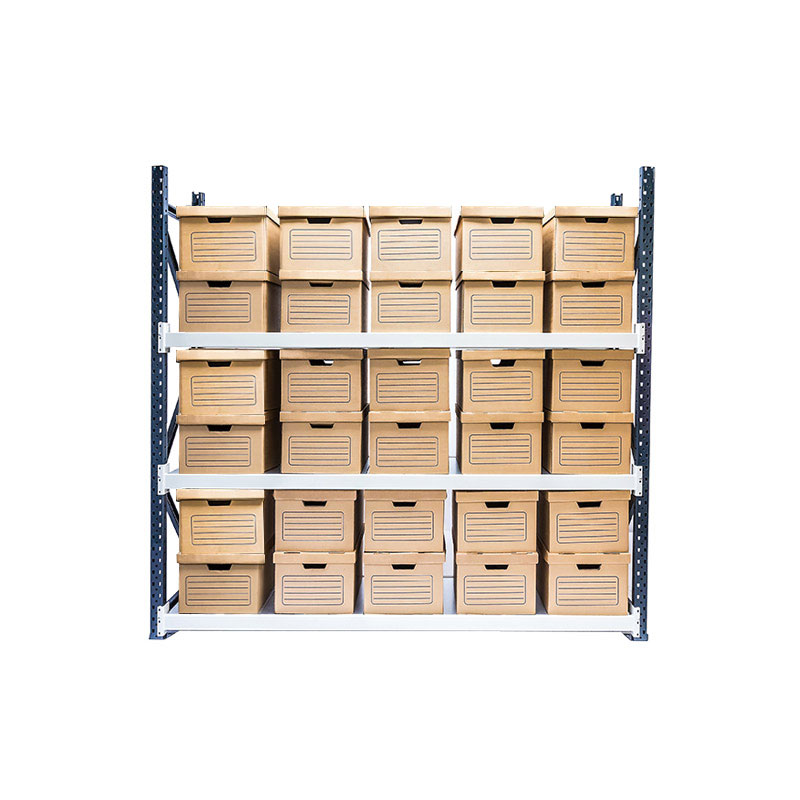 Longspan Archive Shelving - Starter Bay, 3 Shelf, 30 Boxes