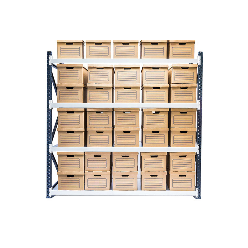 Longspan Archive Shelving - Starter Bay, 4 Shelf, 35 Boxes