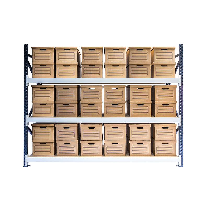 Longspan Archive Shelving - Starter Bay, 3 Shelf, 36 Boxes