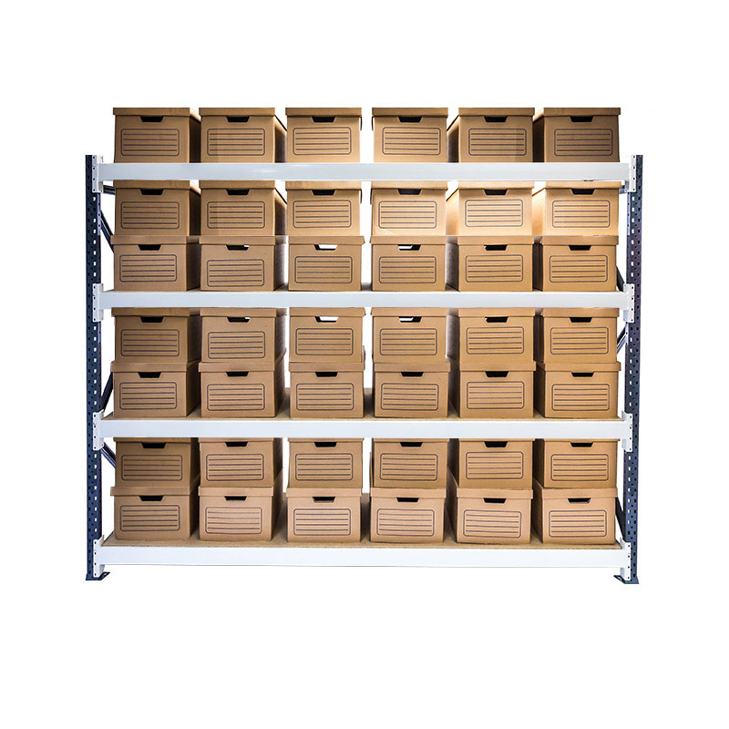 Longspan Archive Shelving, Starter Bay, 4 Shelf, 42 Boxes