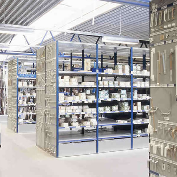 Dexion HI280 Closed Industrial Shelving, 500mm Deep