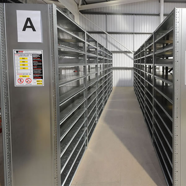 Dexion HI280 Closed Industrial Shelving, 600mm Deep