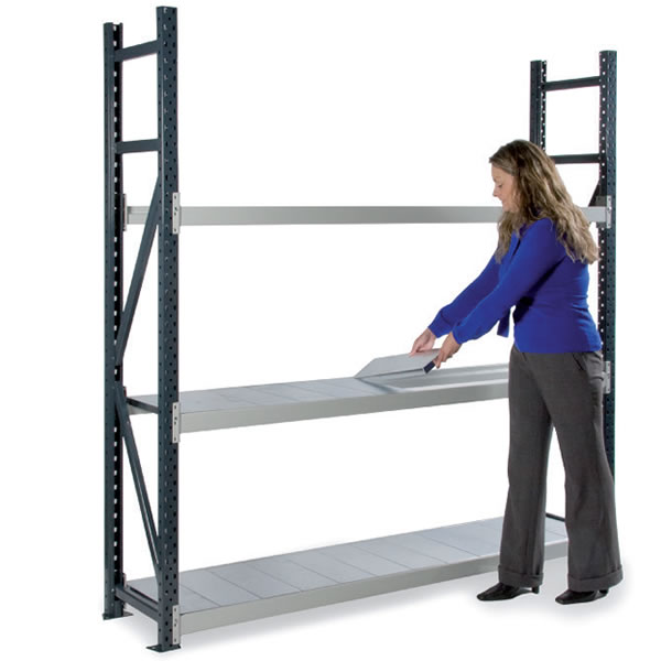 Dexion Longspan Shelving, 600mm Deep, 4 Steel Shelves